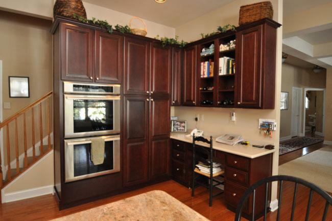 A Built In Double Oven And Corner Office Space Really Upgraded This Roomy  New Kitchen By Drumm Design Remodel