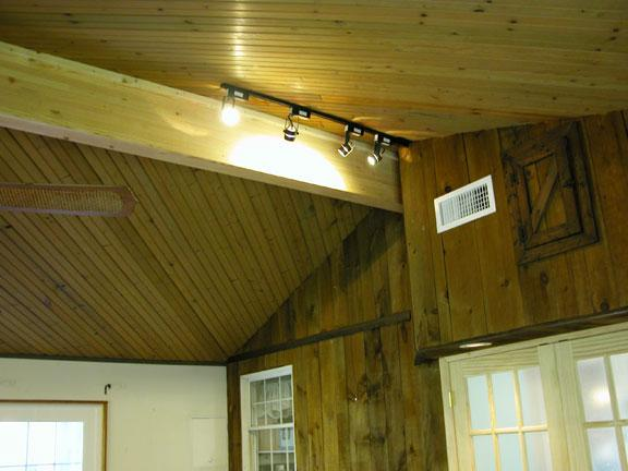 Another view of the engineered structural support beam