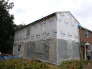 Addition enclosed with vapor barrier