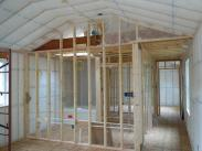 Interior framing and ceiling insulation
