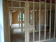 Framing bedrooms, bathroom and hallway