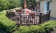 The deck in Blue Bell, PA before Drumm Design Remodel