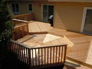 A view of this deck's details from above