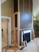 Finished cabinet trim work going up