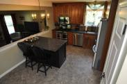Wide angle view of new kitchen remodel in Montgomeryville, PA