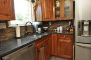 New kitchen counters and backsplash by Drumm Design Remodel