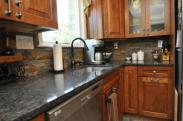 Detailed view of kitchen counters