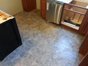 Detail of new tile floor