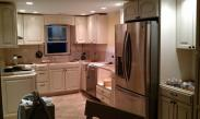 Drywall is repaired and appliances going back into this Telford, PA kitchen