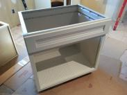 This is an innovative new cabinet for use with sinks, the CoreGuard sink base helps keep spills or leaks contained and easy to clean up...great product ask us about it