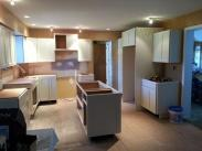 Another view of the cabinets going into this amazing new kitchen