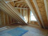 A look inside this great new garage attic space into the new dormer