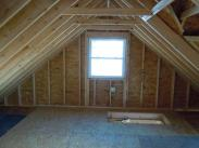 Check out all of this storage room and headroom in the new garage attic