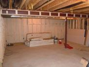 Framing and insulation by Drumm Design Remodel prior to finishing the drywall