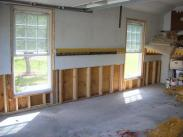 New wall support beams installed by Drumm Design Remodel