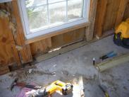 This foundation is so rotted you can literally see outside through the wall