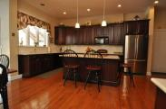 Lots of space to work and entertain make this kitchen a dream