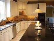 A view of this remodeled kitchen from the center island