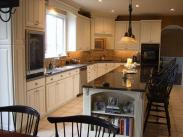 A broader view of this terrific kitchen remodel by Drumm Design Remodel