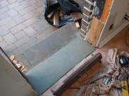 Drumm Design Remodel pours a new door sill