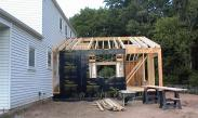 Framing on this home addition begins