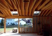 A view to the outside during the framing process