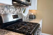 A professional grade, stainless steel oven really helps a family that loves to cook and entertain