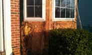 Water behind siding and flashing can create rot quickly and can lead potentially to mold