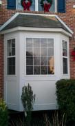 Front view of the window repairs by Drumm Design Remodel