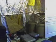 The cluttered basement before Drumm Design Remodel